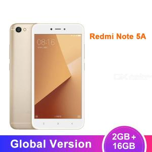 Refurbished Global Version Xiaomi Redmi Note 5A 5.5 Inch Quad-Core Mobile Phone With 2GB RAM 16GB ROM, 3080mAh Battery - EU Plug