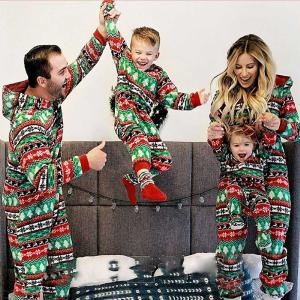 Pajamas Christmas Pjs Family Set Cotton Printed Long Sleeve Rompers Jumpsuits Nightwear Sleepwear For Daddy Mommy Kids Aged 38