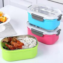 Single Layer Stainless Steel Lunch Box Portable Food Container for Office School