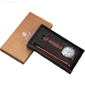 Mens Gift Set Quartz Watch + Pen With Exquisite Gift Box