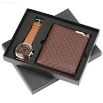 Mens-Gift-Set-2-in-1-PU-Purse-Watch-Combo-For-Birthday-Christmas-Holidays