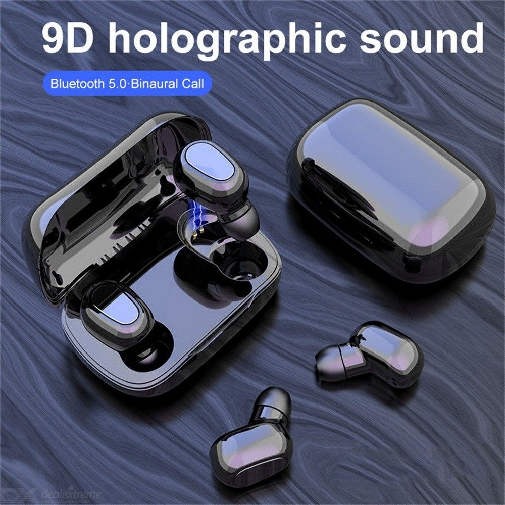 L21 TWS HIFI Wireless Earbuds Bluetooth V5.0 Headphones 9D Stereo Sport Binaural Earphones With Charging Case