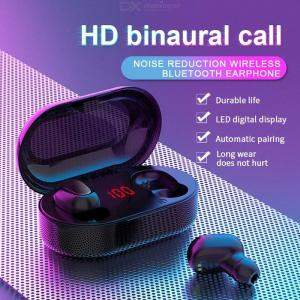 L22 TWS Bluetooth 5.0 Headset Wireless In-ear Headphone With LED Digital Display Charging Box, IPX5 Waterproof Earphone