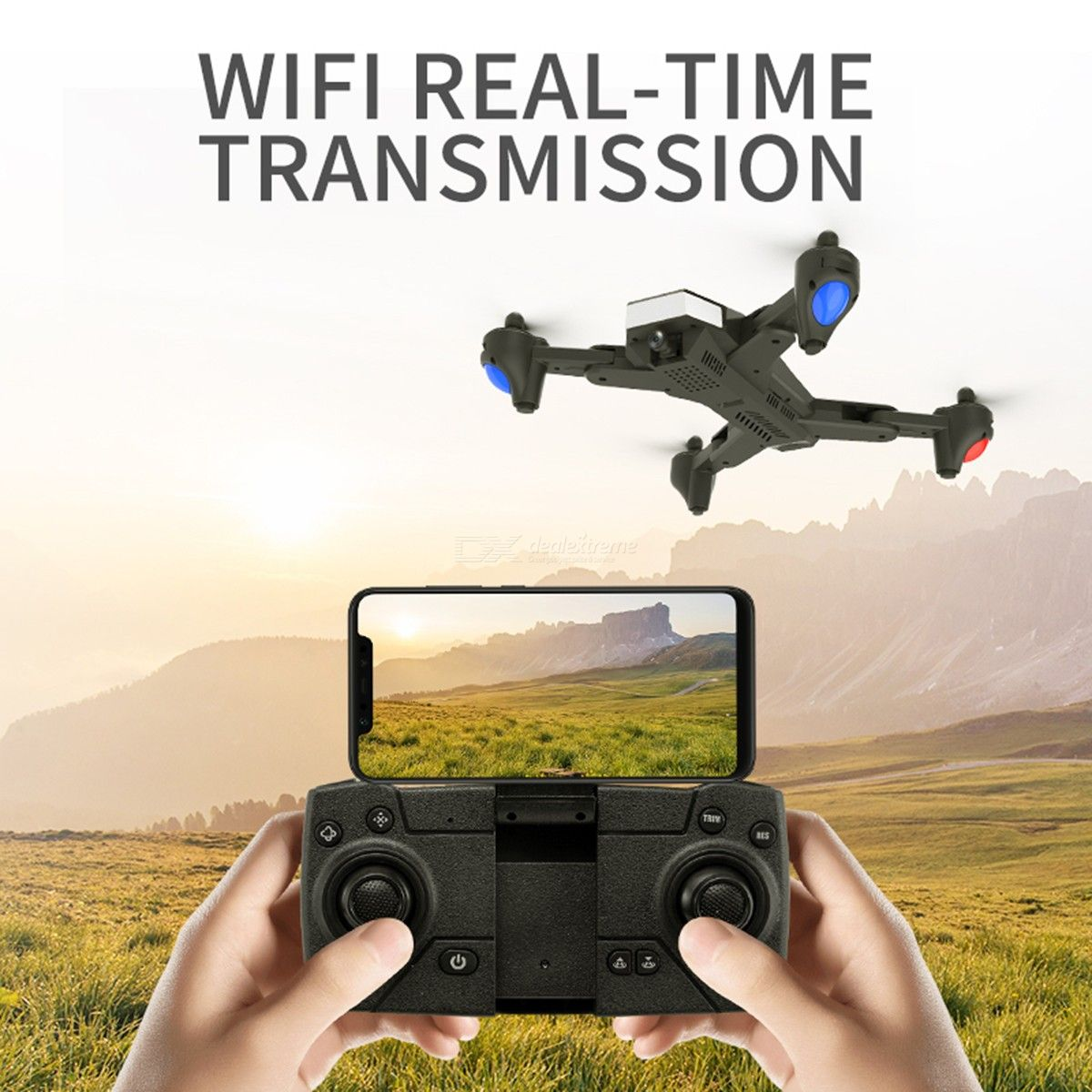 Folding FPV Drones Video RC Quadcopter With 1080P 4K Camera 2.4G/5.8G GPS Postioning 360d Rolling APP/RC Control