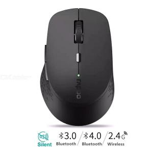 Rapoo M300 Multi-mode Silent Wireless Mouse With 1600DPI Bluetooth 3.0/4.0 RF 2.4GHz For Three Devices Connection