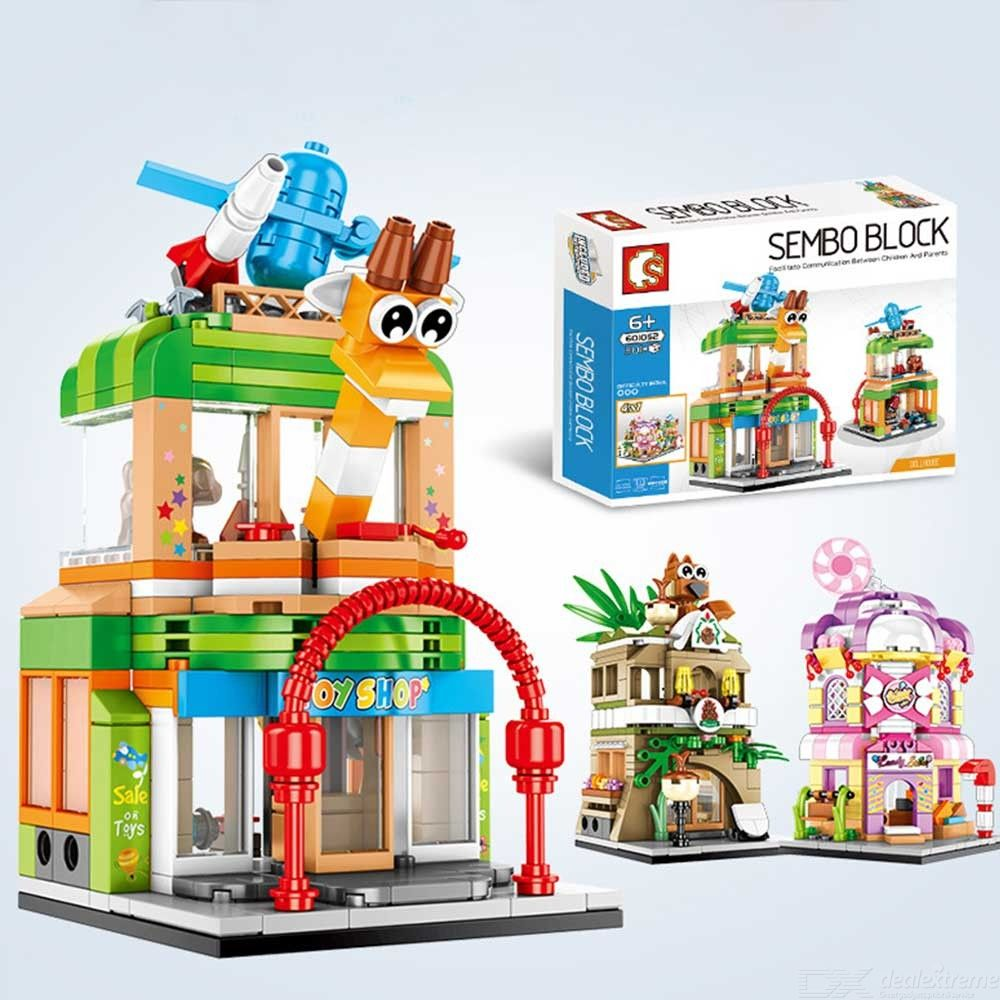 Building Blocks Puzzle Toys City Streetscape Toy Shop Building Blocks Educational Toys Compatible With Lego For Boys Girls