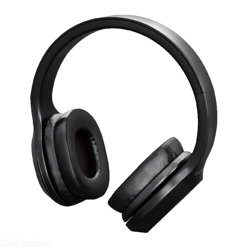 Lenovo HD100 Wireless Bluetooth Headphone Noise Isolation 20Hours Playing Time - Black