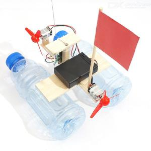 Remote Control Wind Boat Small Production Kit​ DIY Scientific Experiment Model Material