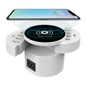 Foldable QI Wireless Charger Smart 8 Ports USB Type-C Charging Station Hub, EU Power Adapter Socket Strip