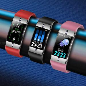 OLED Smart Bracelet PPG + ECG Heart Rate Blood Pressure Fitness Tracker Sport Smart Band For IOS Android