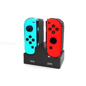 4-in-1 LED Charger Dock Station USB Charging Stand For Nintendo Switch NS Joy-Con Game Controllers