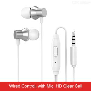 Lenovo HF130 Wired Earphones In-Ear HD Bass With Mic 3.5mm Jack