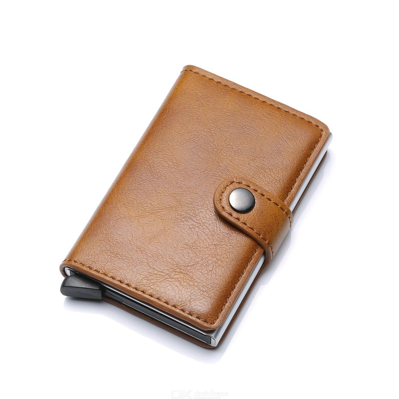 Mens Leather Wallet RFID Blocking Anti-theft Credit Card Clutch Bag