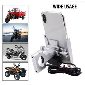 Motorcycle Phone Mount Charger 5V/2A Motorbike Cellphone Holder With Charging Function