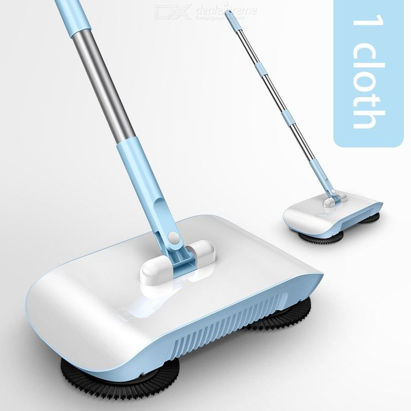 Hand-Push Type Sweeper Dual Use Sweeping Mopping Machine Household Cleaning Tools