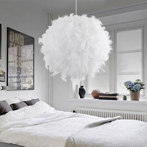 Modern Pendant Ceiling Lamp Feather Ceiling Droplight Home Decoration Creative Chandelier Hanging Lamp E27/E26