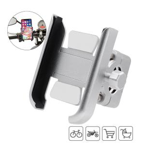 CS-856A1 Bike Motorcycle Phone Mount All-Metal Adjustable Cellphone Clamp