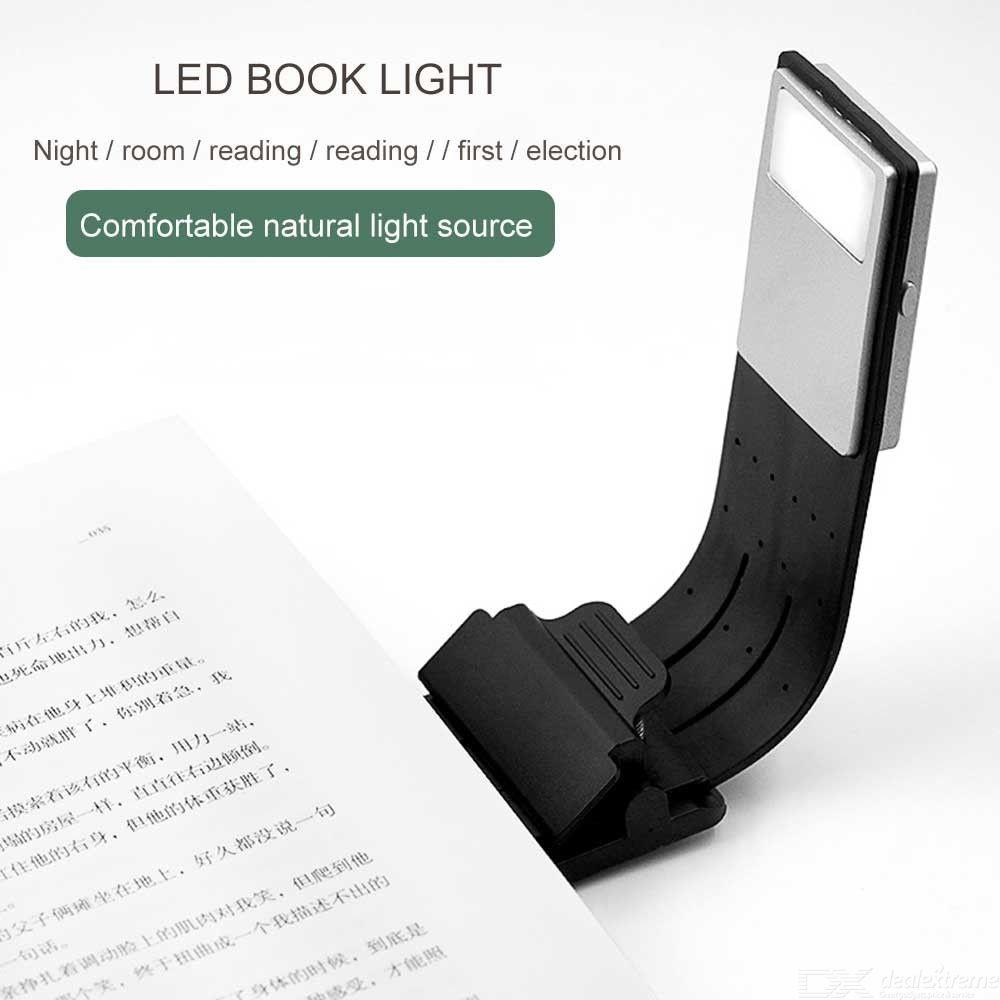 2Pack Portable LED Reading Book Light With Detachable Flexible Clip USB Rechargeable Lamp For Kindle/eBook Readers