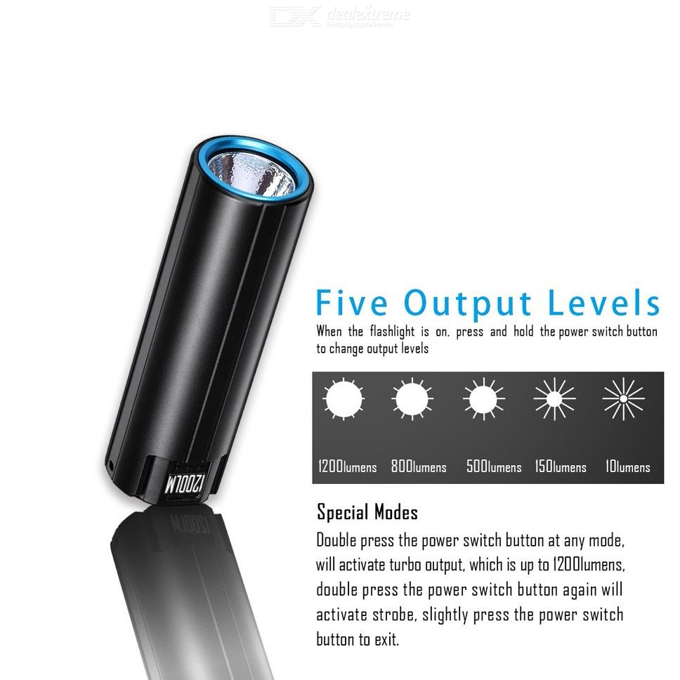 IMALENT LD10 1200 Mini Flashilght LED Keychain Compact Bright Flashlight 18650 Battery Powered