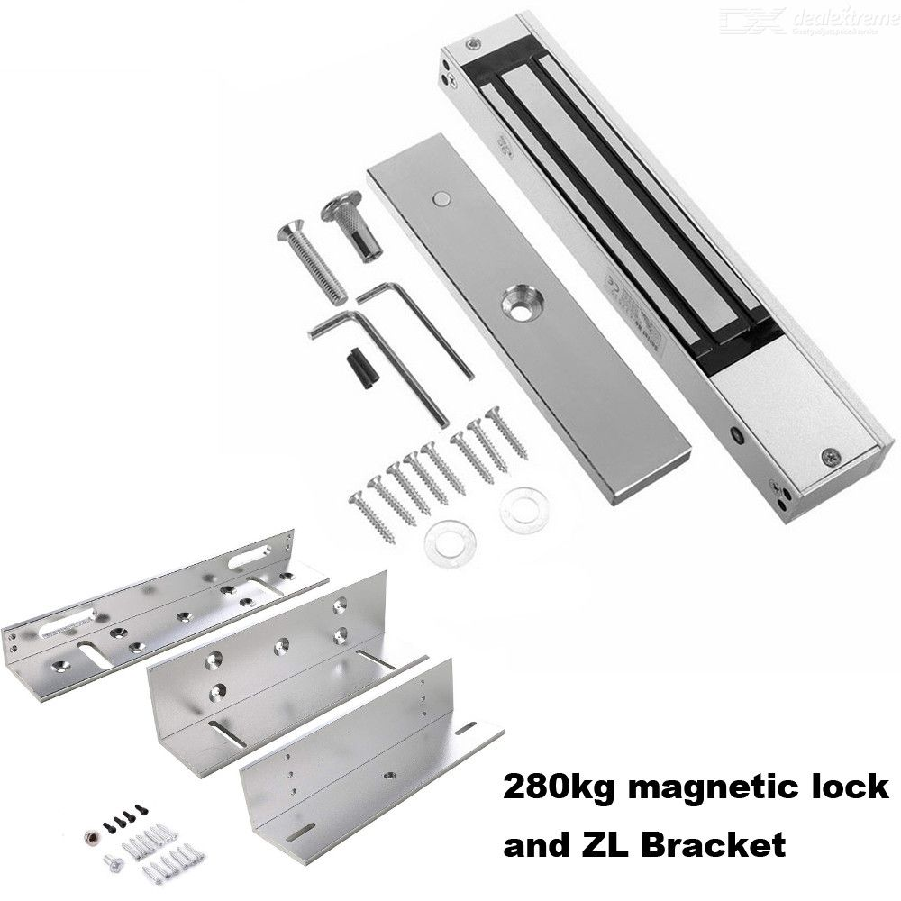 180kg 350lbs 280KG 600lbs Electric Magnetic Lock DC 12V Single Door Electromagnetic Lock with ZL Bracket