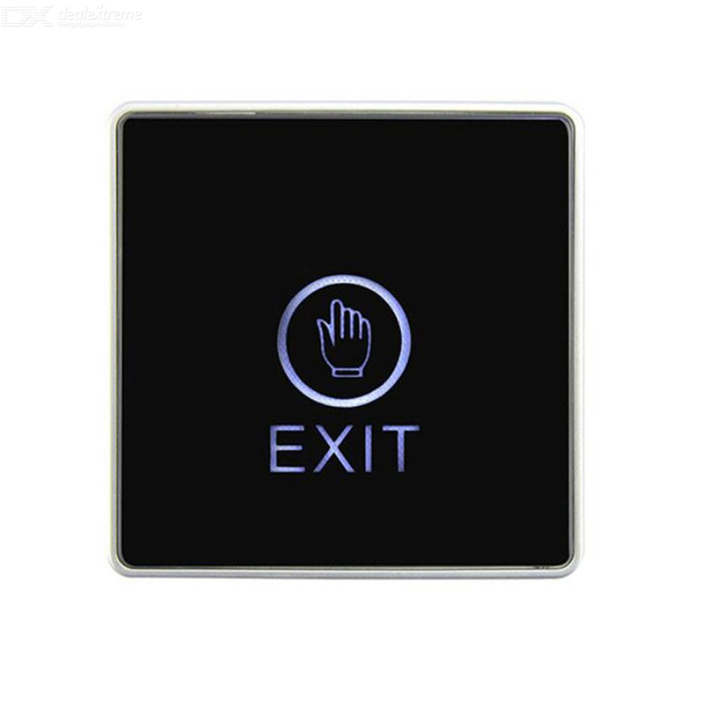 Backlight Push Touch Exit Button Infrared Contactless Door Release Switch for access Control System With LED Indicator 8686mm