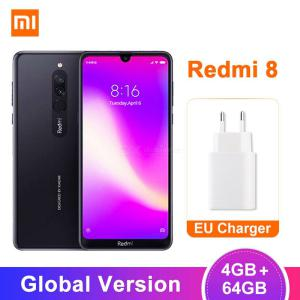 Global Version Xiaomi Redmi 8 Octa-Core 12MP Dual Camera Mobile Phone With 4GB RAM 64GB ROM, 5000mAh Large Battery - EU Plug