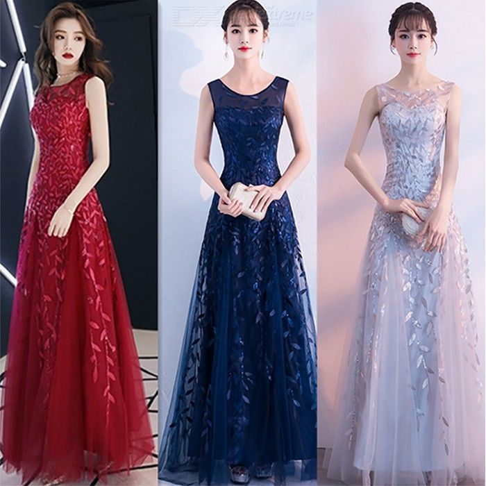 Women's Evening Gowns Noble Elegant Slim-fit Maxi Dresses For Cocktail Party Prom Banquet Wedding