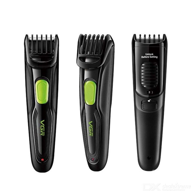 VGR Electric Hair Clipper Multifunction Hair Shaver USB Rechargeable Waterproof Beard Trimmer - Black