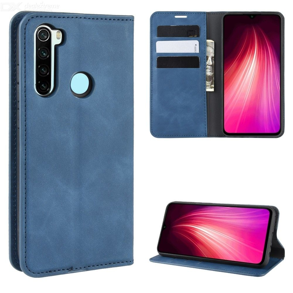 CHUMDIY Magnetic PU Leather Case with Kickstand for Xiaomi Redmi Note 8