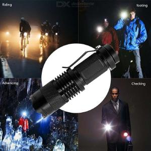YWXLight LED Mini Flashlight Bright Zooming Rechargeable Keychain Flashlight for Duty Emergency Work