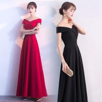 Women's Evening Gowns Noble Elegant High Waist Short Sleeve Off-The-Shoulder Maxi Dress For Cocktail Party Prom Banquet Wedding