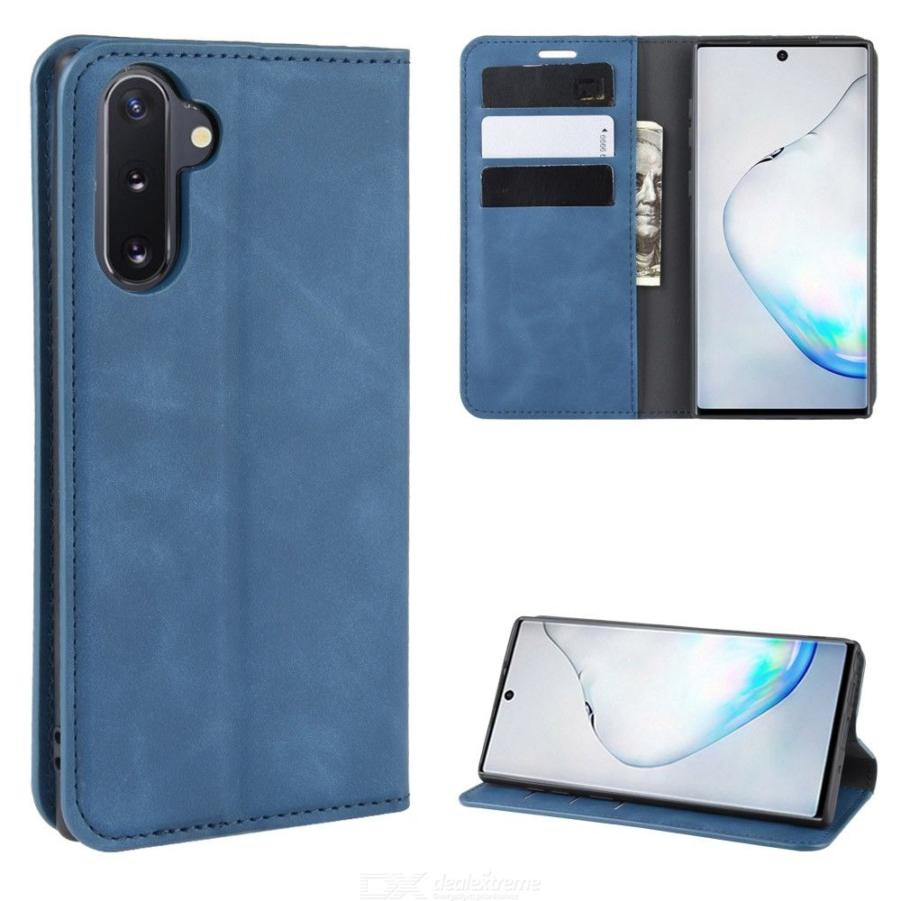 CHUMDIY PU Leather Wallet Case with Magnetic Closure for Samsung Galaxy Note 10