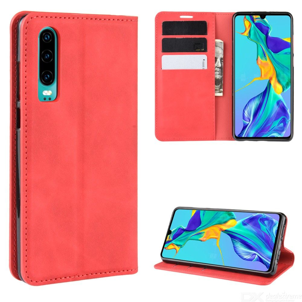 CHUMDIY PU Leather Case with Magnetic Closure for Huawei P30