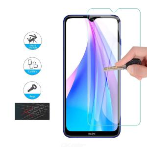 QULLOO Tempered Glass Screen Protector 2.5D Full Coverage Protective Film for Xiaomi Redmi Note 8T