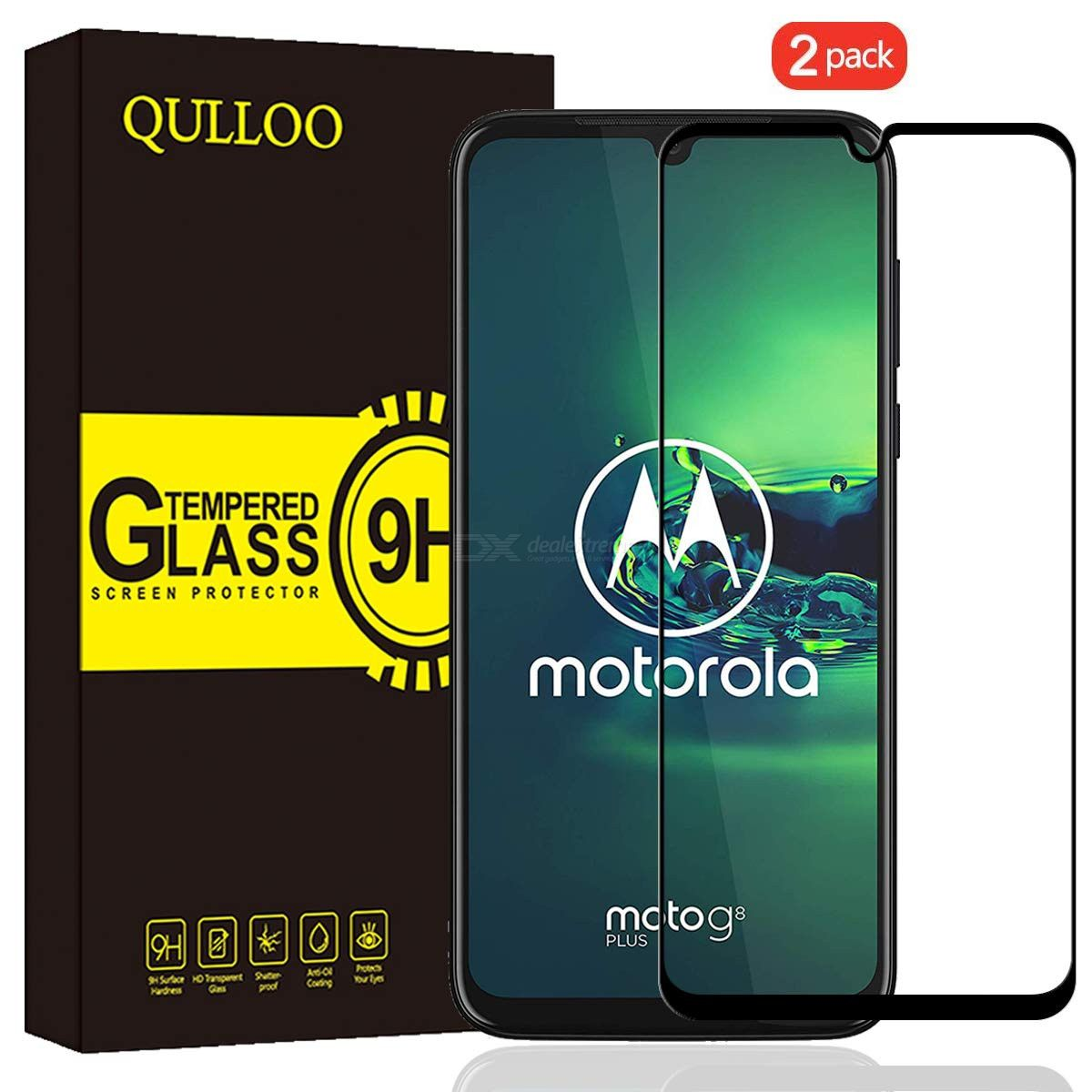 qulloo tempered glass screen protector 2.5d full coverage protective film for samsung galaxy m30s