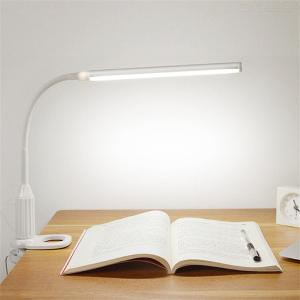 5W 24LEDs Eye Protection Clamp Clip Light Table Lamp Stepless Dimmable Bending USB Powered Touch Sensor Control LED Desk Lamp