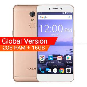 Globale Version CoolPad E2 5.0 Zoll 4G-Smartphone Mit 2 GB RAM 16 GB ROM, Android 7.1.1 Quad-Core-Fingerabdruck - EU-Stecker