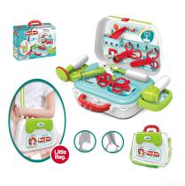 Medical-Equipment-Single-Shoulder-bag-15PCS-Simulation-Suitcase-children-play-a-house-puzzle-toys