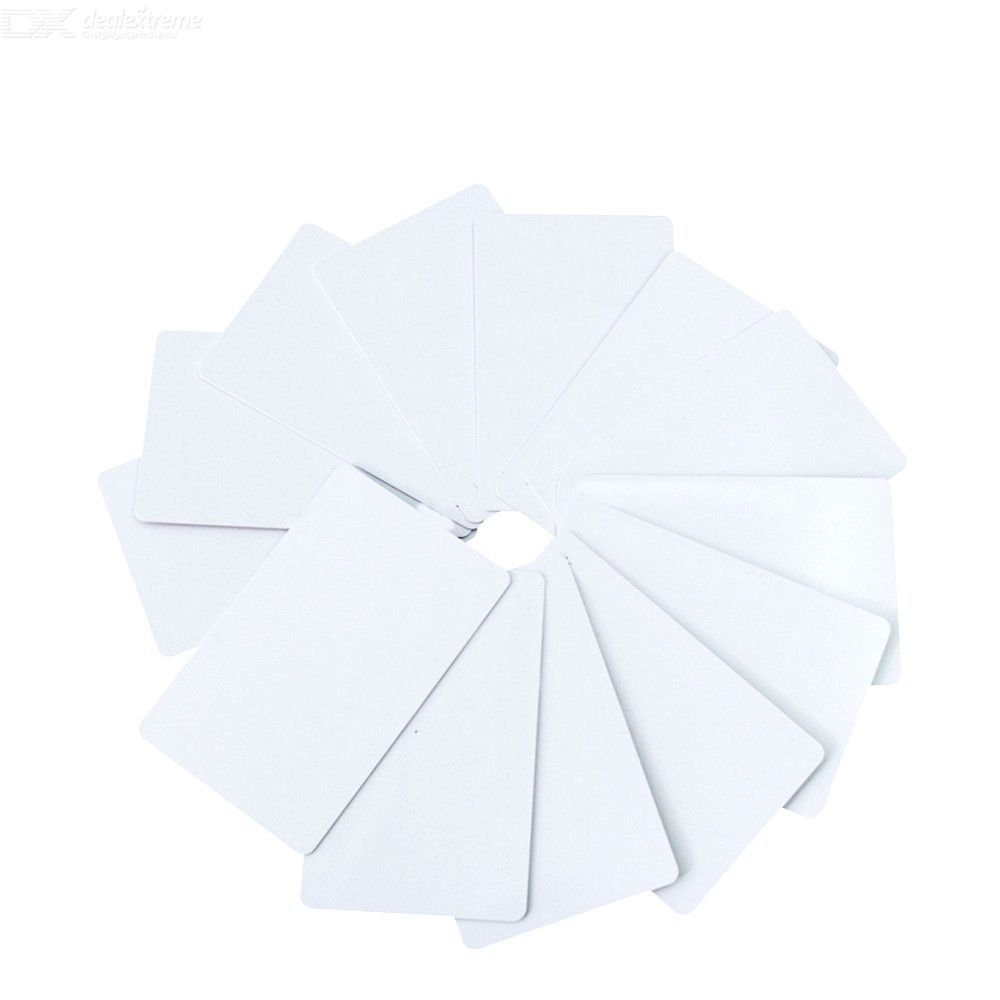 10pcs/lot UID 13.56MHz IC Clone copy Card Changeable Smart White Card Duplicator copy IC Card