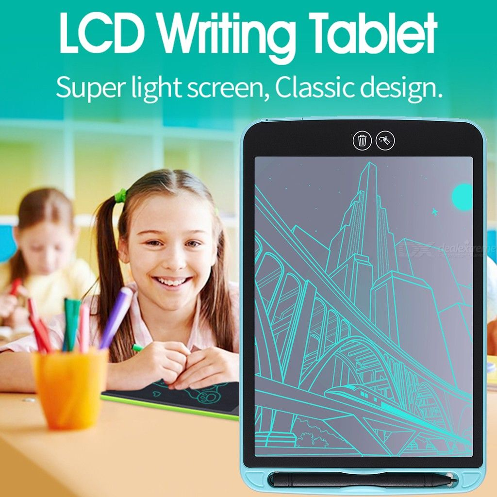 8.5/10/12 inch LCD Writing Tablet, Partial Erase Drawing board, electronic thick pen, highlighting pads Digital tablets
