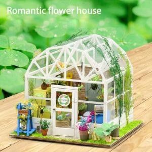DIY Mini Building Blocks Flower House Puzzle Toy Educational Assembling Model Building Quiz Christmas Toy for Kid