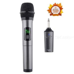 Wireless Microphone Karaoke Microphone Cordless Mic System With Rechargeable Bluetooth Receiver - Professional UHF 3.5 6.35mm