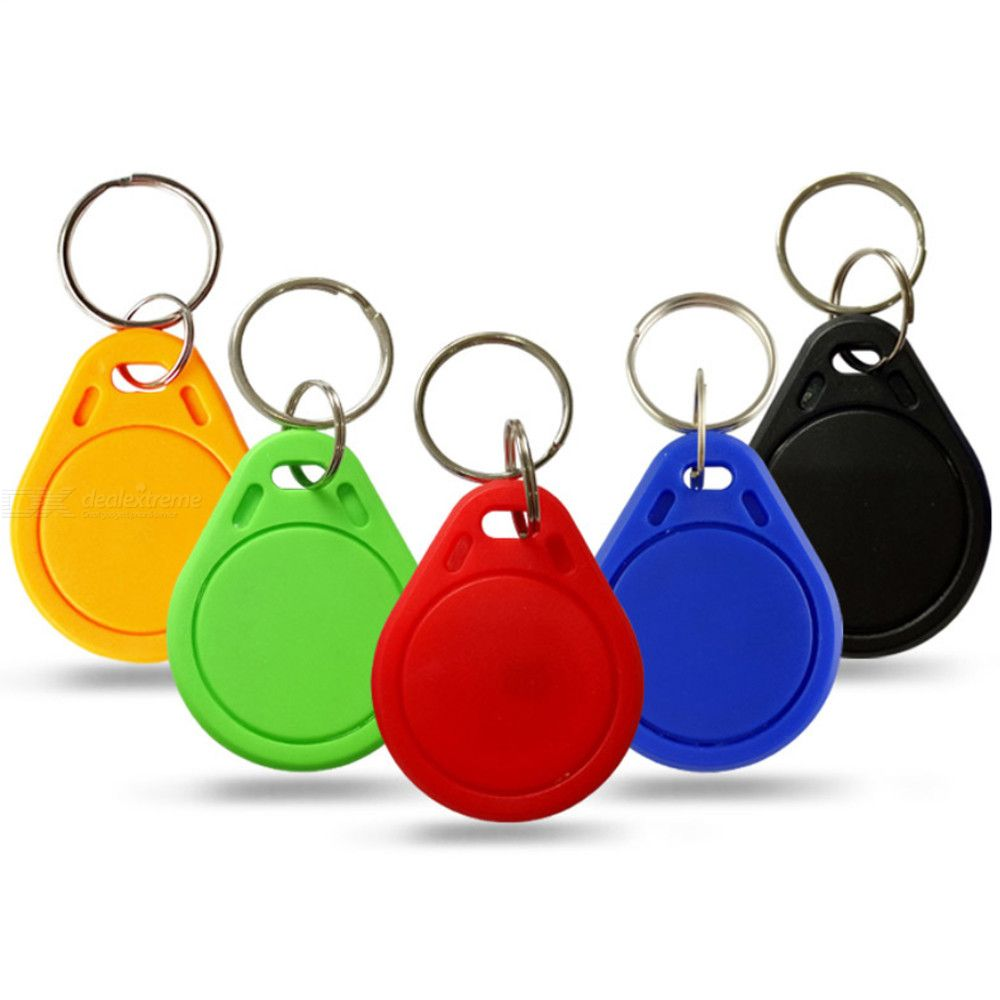 10PCS 13.56MHz IC Keyfobs Tags Access Control, IC Key Finder Card Token Attendance Management Keychain