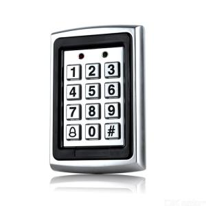 K7612 Backlight RFID Metal Access Control, 125KHz EM Card Reader Keypad 1000 Users Door Access with Doorbell