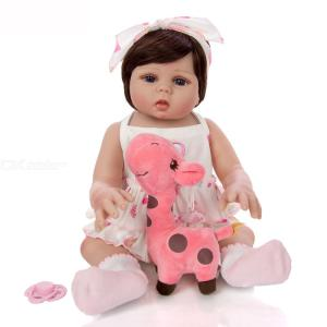 Cute Baby Doll Toy Full Silicone Vinyl Newborn Baby Doll Birthday Christmas Gifts 19 Inch/48CM