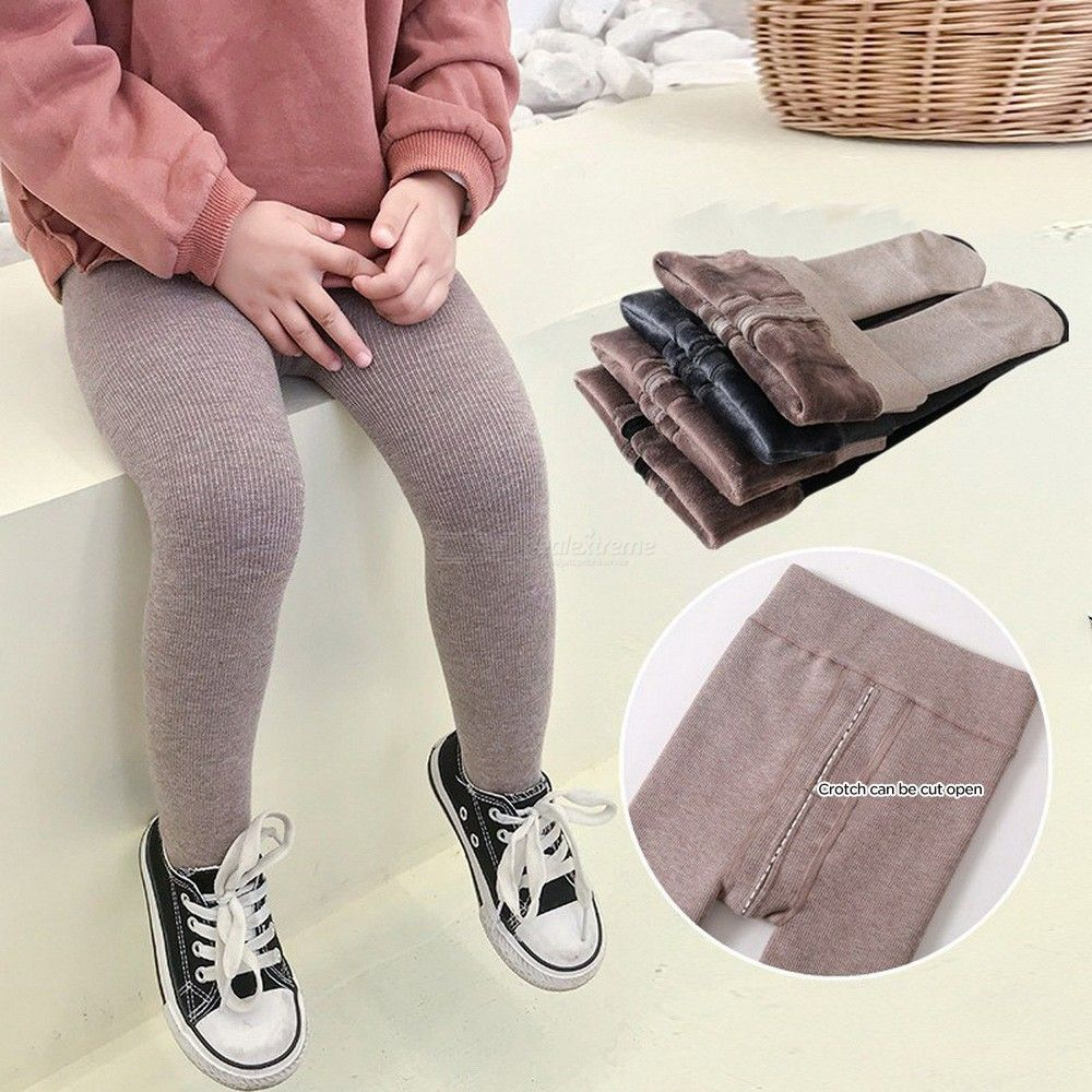 Winter Kids Solid Color Tights Thickened Girls Warm Pantyhose