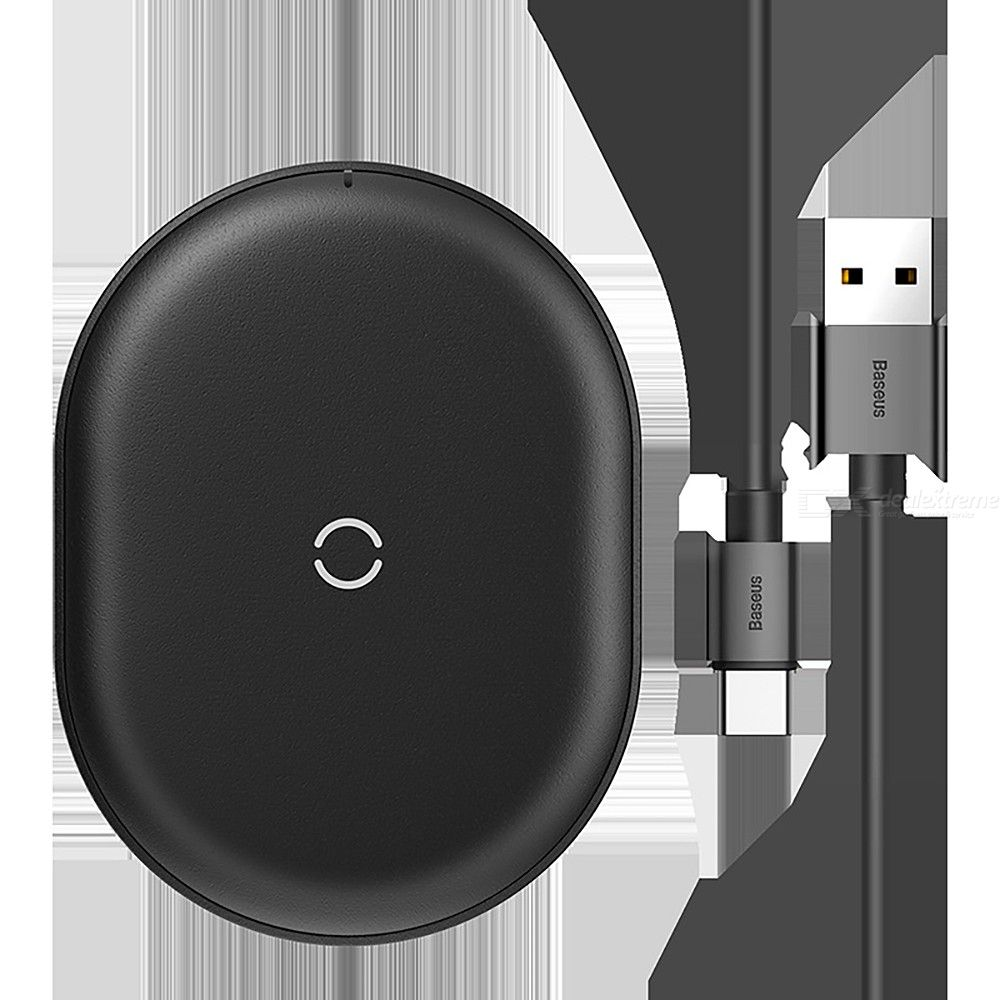 Baseus 15w Qi Wireless Charger With Type C Cable Thin Desktop