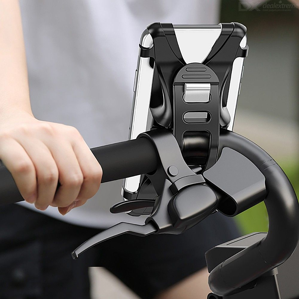 USAMS ZJ053 Universal Adjustable Silicone Bicycle Phone Mount GPS Holder For Cycling