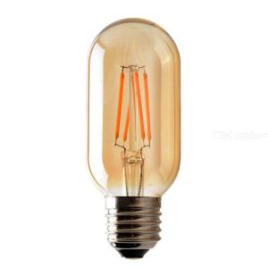 Retro Antique Dimmable E27 T45 LED Tawny Light Bulb, Edison Tungsten Warm Lamp For Home Decorative Lighting