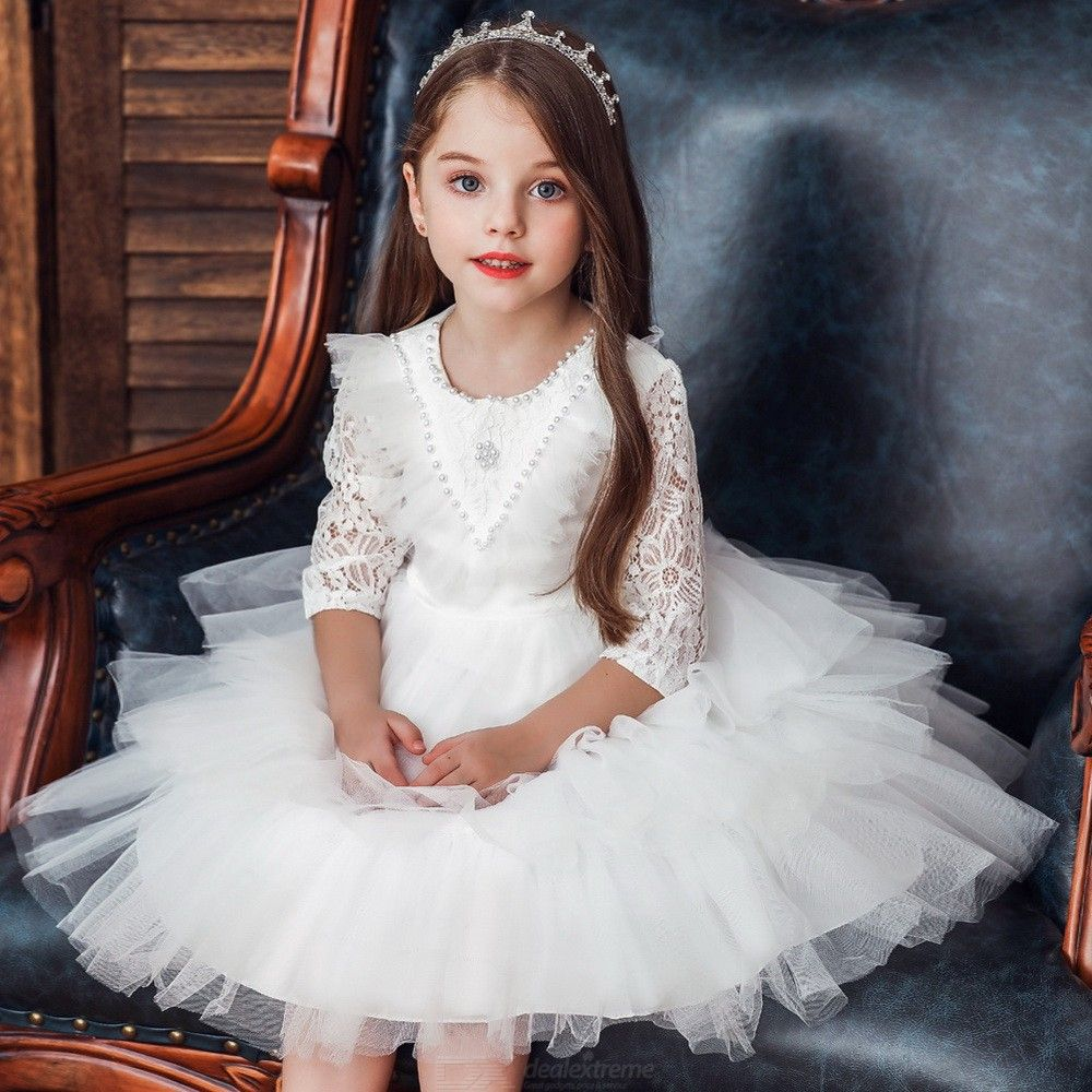 Formal Dress Layered Wedding Princess Dresses For Girls Aged 12 Months - 5 Years